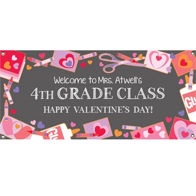 Valentine's Day Kids Banner
