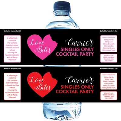Love Bites Anti-Valentine's Water Bottle Label