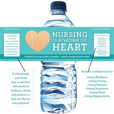 Nurse Appreciation Week Custom Water Bottle Label
