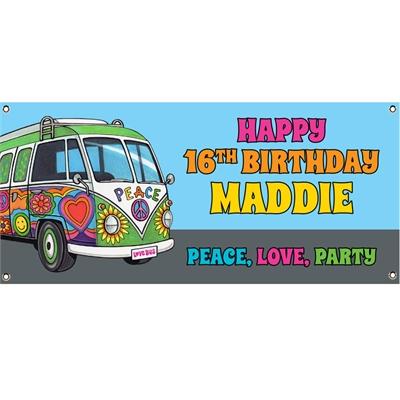 Hippie Bus Theme Banner