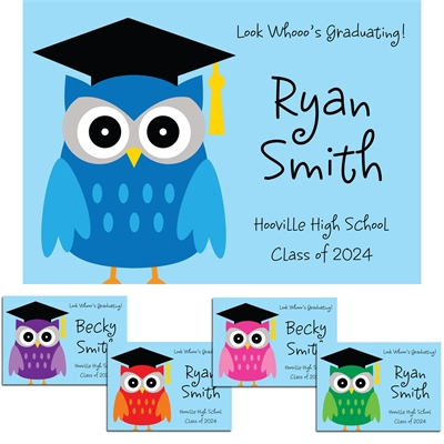 Graduation Owl Theme Announcements