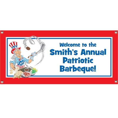 American Patriotic BBQ Theme Banner