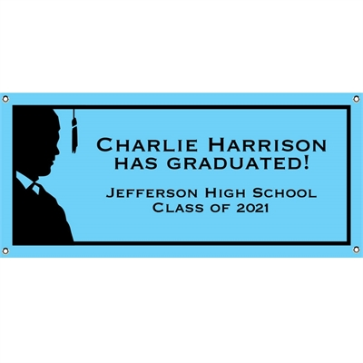 Graduation For Him Theme Banner