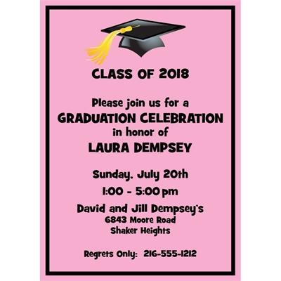Graduation For Her Invitation