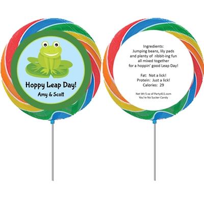 Leap Day Party Theme Custom Lollipop