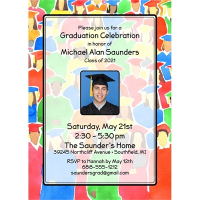 Graduation Crowd Invitation