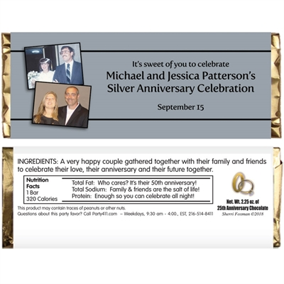25th Anniversary Theme Candy Bar Wrapper