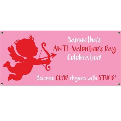Cupid Anti-Valentine's Day Banner