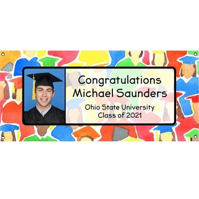Graduation Crowd Theme Picture Banner
