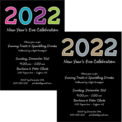 2018 New Year's Celebration Invitation