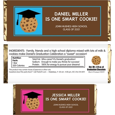 Graduation Smart Cookie Theme Candy Bar Wrapper