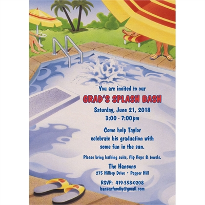 Graduation Pool Party Invitation – Invitation Pool Party