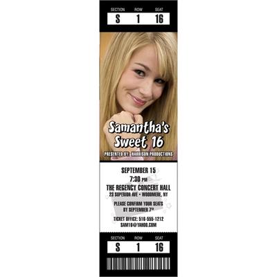Hollywood Photo Ticket Invitation