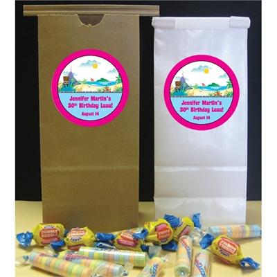 Luau Beach Theme Custom Favor Bag