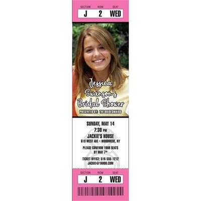 Bridal Shower Photo Ticket Invitation