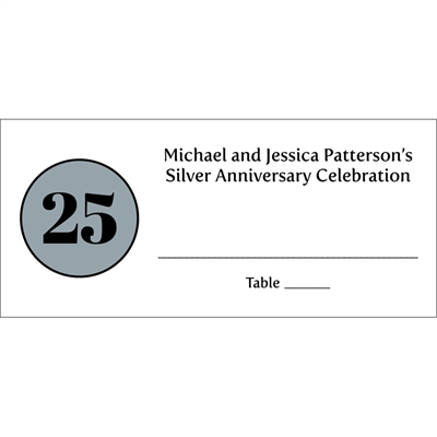 25th Anniversary Theme Seating Card