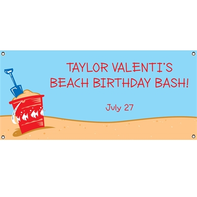 Beach Party Theme Banner