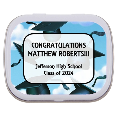 Graduation Caps Theme Mint Tin