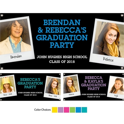 Graduation Polaroid Photo Theme Banner