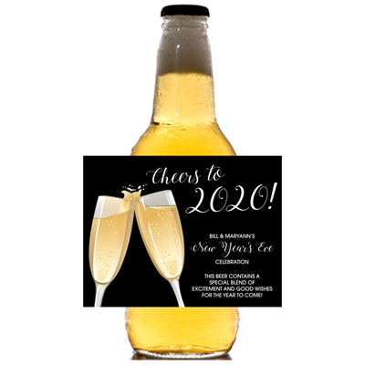 Champagne Toast Theme Beer Bottle Label