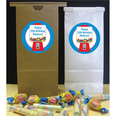 Gumball Theme Party Favor Bag