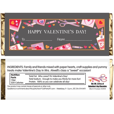 Valentine's Day Kids Candy Bar Wrapper