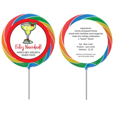 Christmas Fiesta Custom Lollipop