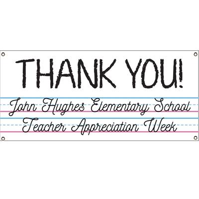Teacher Appreciation Theme Banner