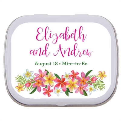 Tropical Flower Mint Tin