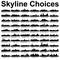 Pick Your Skyline Theme Party Favor Bag