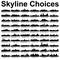Pick Your Skyline Bridal Invitation