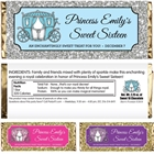 Fairy Tale Princess Theme Candy Bar Wrapper