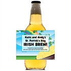 St. Patrick's Day Gold & Rainbow Theme Beer Bottle Labels