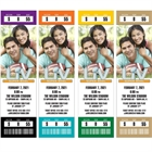 Super Bowl Team Colors Photo Ticket Invitation