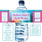Under The Sea Theme Water Bottle Label
