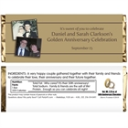 50th Anniversary Theme Candy Bar Wrapper