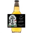 Halloween Tombstone Wedding Beer Bottle Label