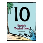 Luau Table Number
