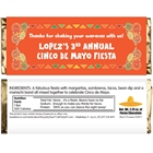 A Mexican Fiesta Theme Candy Bar Wrapper