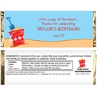 Beach Party Theme Candy Bar Wrapper