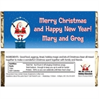 Christmas Santa Magic Theme Candy Bar Wrapper