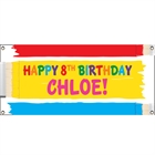 Kids Birthday Paint Theme Banner