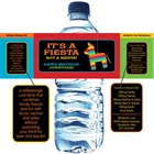 Pinata Theme Fiesta Water Bottle Label