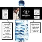 25th Anniversary Vintage Water Bottle Label