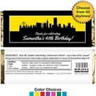 Pick Your Skyline Birthday Candy Bar Wrapper