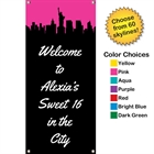 Pick Your Skyline Sweet 16 Party Vertical Banner