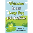 Leap Day Party Welcome Sign