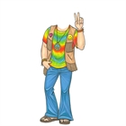 Hippie Guy Cutout