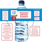 Gumball Theme Water Bottle Label