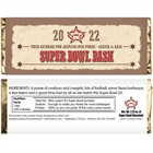 Western Theme Super Bowl Candy Bar Wrapper